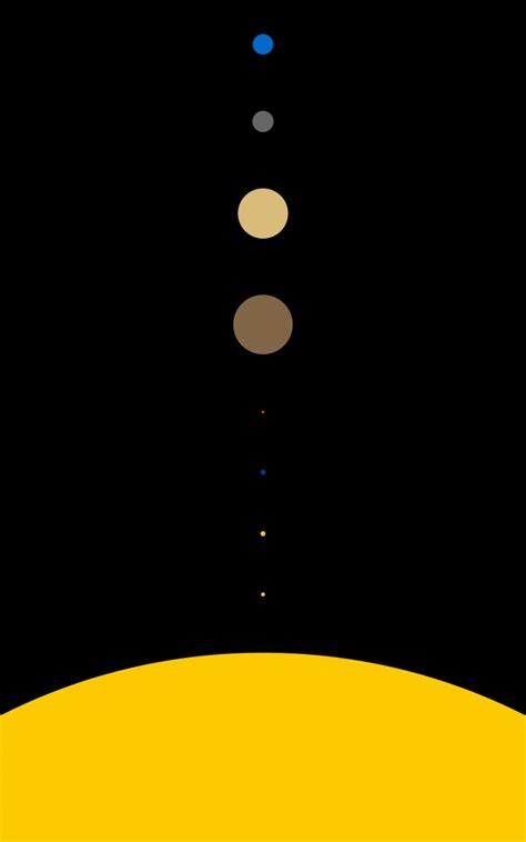 Solar System, Space, Planet, Minimalism, Portrait Display