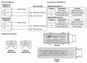 Kia Forte  Camshaft Position Sensor  Cmps  Circuit Diagram
