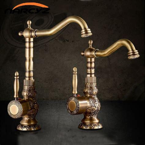 basin faucets antique brass bathroom faucet basin carving