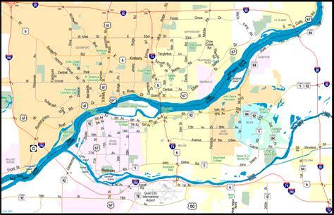 illinois  aaroads interstate  east quad cities
