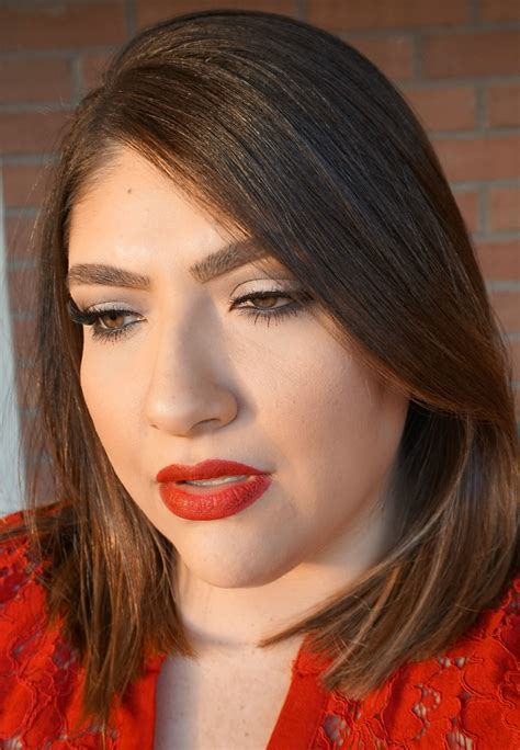 simple red lip makeup  beauty  lily