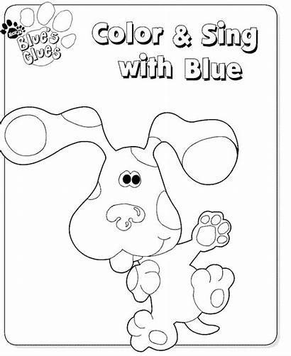 Clues Blues Coloring Pages Printable Clue Fun