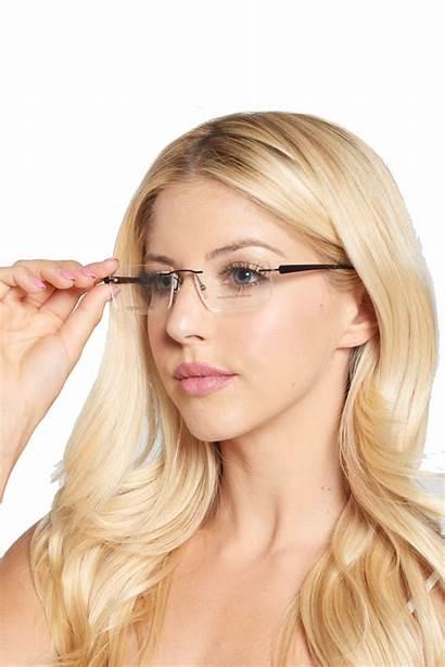 Rimless Eyeglasses Sunglasses Walmart Clear Metal Naturally