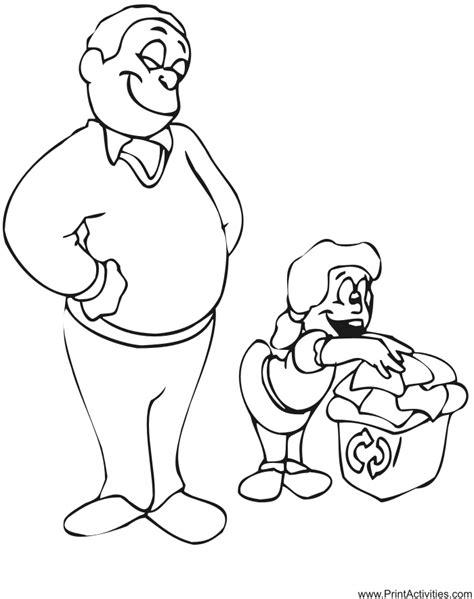 father daughter coloring page family coloring page
