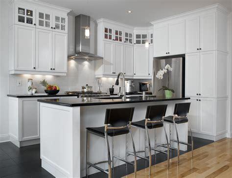 cuisine avec comptoir blanc un retour cuisine bois quartz