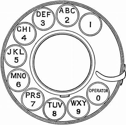 Dial Clipart Rotary Phone Etc Telephone Clip