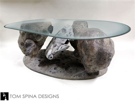 star wars table l millennium falcon coffee table star wars asteroid chase