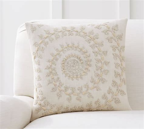 Beaded Ombre Pillow Cover Pottery Barn Living Room by Spiral Beaded Pillow Cover Pottery Barn