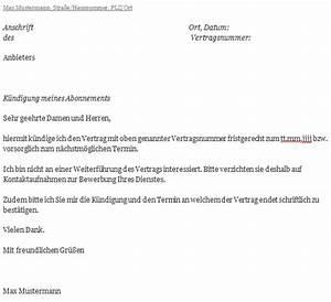 Wohnung Kündigen Per Email : abo k ndigen k ndigungstipps und musterschreiben ~ Lizthompson.info Haus und Dekorationen