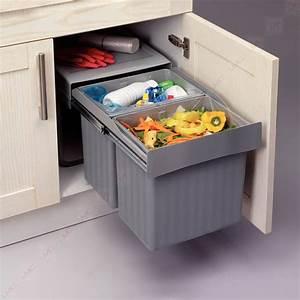 Meuble Poubelle Cuisine : poubelle sous evier ustensiles de cuisine ~ Dallasstarsshop.com Idées de Décoration
