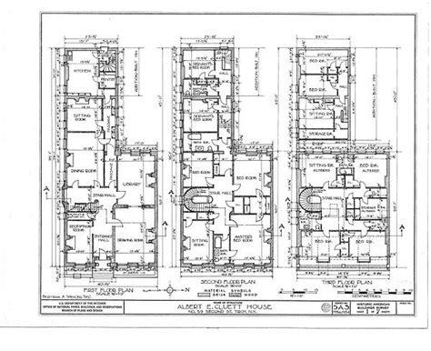 english blueprints floor plan hart cluett mansion historic american building survey