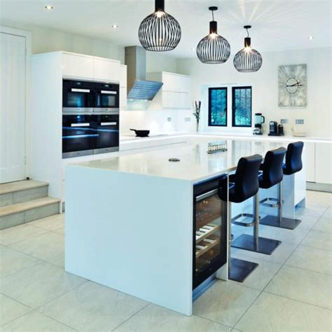 white high gloss kitchen island kitchens by stoneham specialising in luxury bespoke kitchens 1774