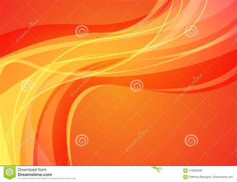 abstract yellow line curve wave light design modern futuristic background vector stock