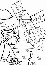 Mill Coloring Coloringway sketch template