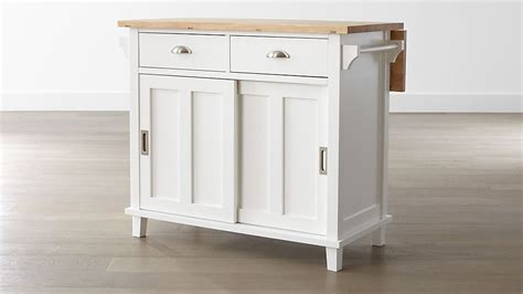 belmont white kitchen island reviews crate  barrel