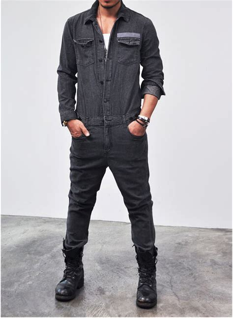 mens denim jumpsuit bottoms vintage workwear denim jumpsuit jean 30 for