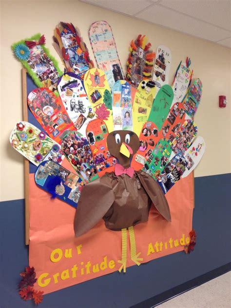 turkey bulletin board   gratitude feathers
