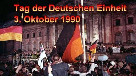 German unity day on 3 october has been the german national holiday sin. Tag der Deutschen Einheit 3 Oktober 1990 - YouTube