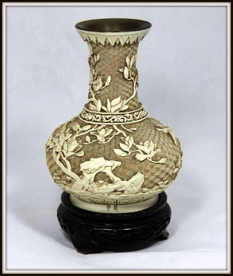 Carved Vase by Exquisite Quot White Cinnabar Vase Quot With Carved