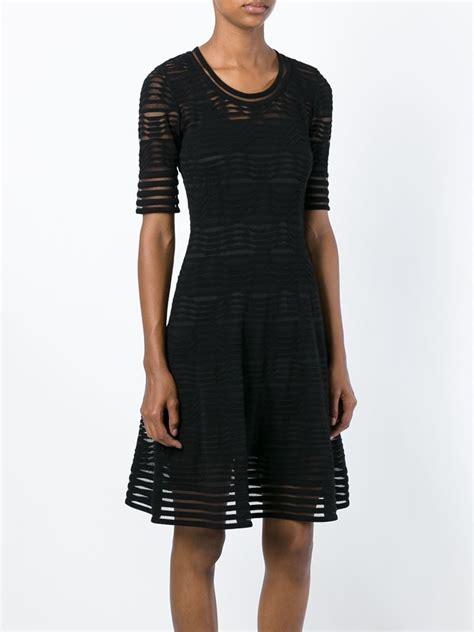 lyst  missoni wave knit flared dress  black