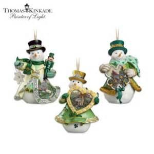 irish blessings snowman christmas tree ornament collection thomas kinkade emerald isle by the