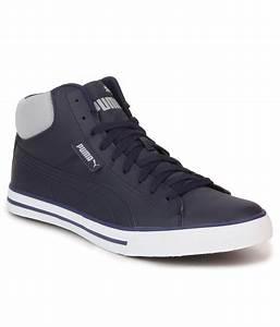 Puma Salz Mid Dp Men's Blue Lace-up Casual Shoes Best