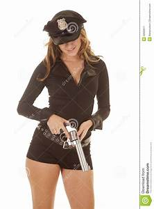 Female Cop Holding A Revolver Stock Image - Image: 32920611