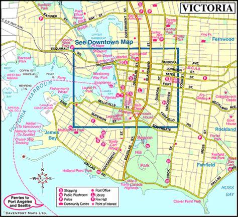 map  victoria vancouver island british columbia