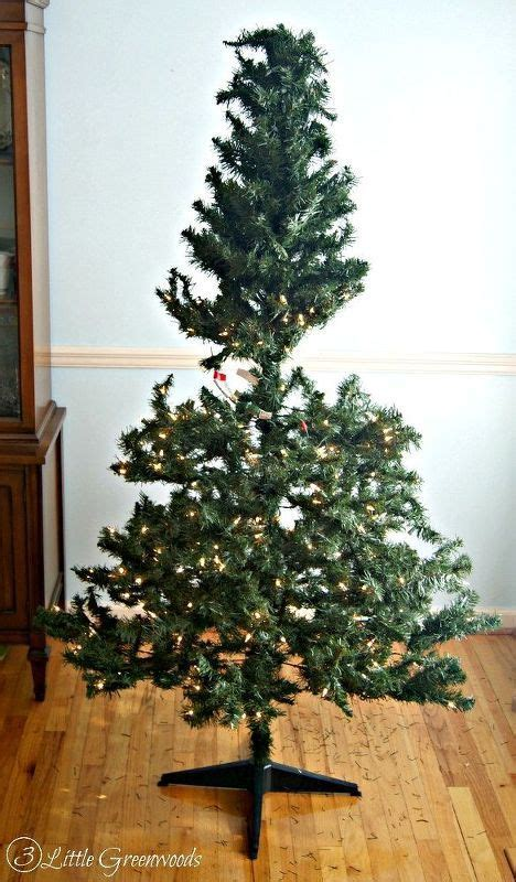 trick for making a fake christmas tree look fabulous