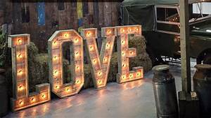 light up love letters the word is love With 3ft wooden letters