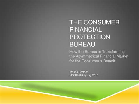 the consumer financial protection bureau