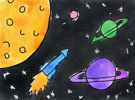 Outer Space Art Project For Kids