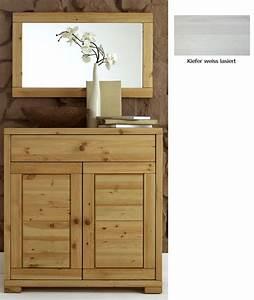 Kommode Massiv Weiß : massivholz kommode spiegel flurm bel dielenm bel set wei kiefer massiv ~ Watch28wear.com Haus und Dekorationen