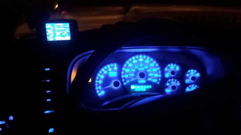 chevy silverado cluster blue led conversion youtube