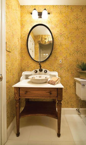 powder rooms furniture style vanity  vessel sink
