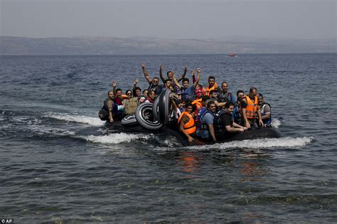 Overcrowded Refugee Boat by Greek Passenger Ferry Sends Lifeboats To Rescue Refugees