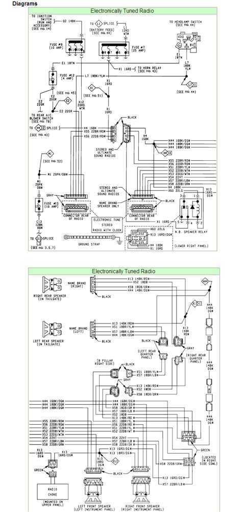 chrysler radio wiring diagrams diagram stream