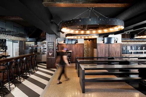 industrial bar  restaurant design  montreal canada