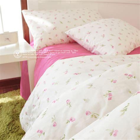 korean little pink rose pattern bedding sets floral