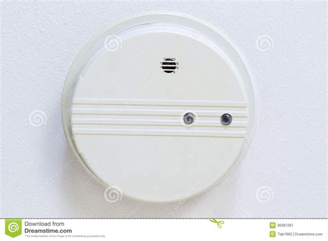 home smoke detector mounted  ceiling stock image image