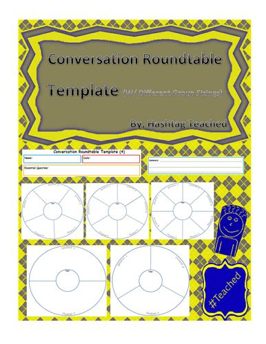 Conversation Roundtable Template by Assemblies By Uk Teaching Resources Tes