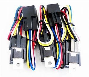 Genssi 30  40 Amp Auto Led Light Bar Relay Wiring Harness Spdt 12v 40a  Pack Of 5