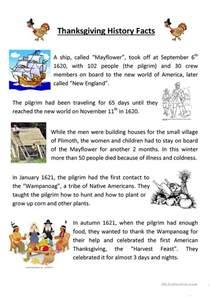 teaching thanksgiving history worksheet free esl printable worksheets made by teachers