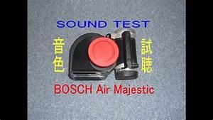 Car Horn Test Sound Klaxon Bosch Air Majestic 680hz 530hz