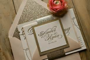 pink and gold wedding invitations real wedding and pink and gold glitter wedding invitations