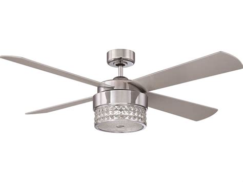 silver blade ceiling fan kendal lighting celestra chrome optic crystal with