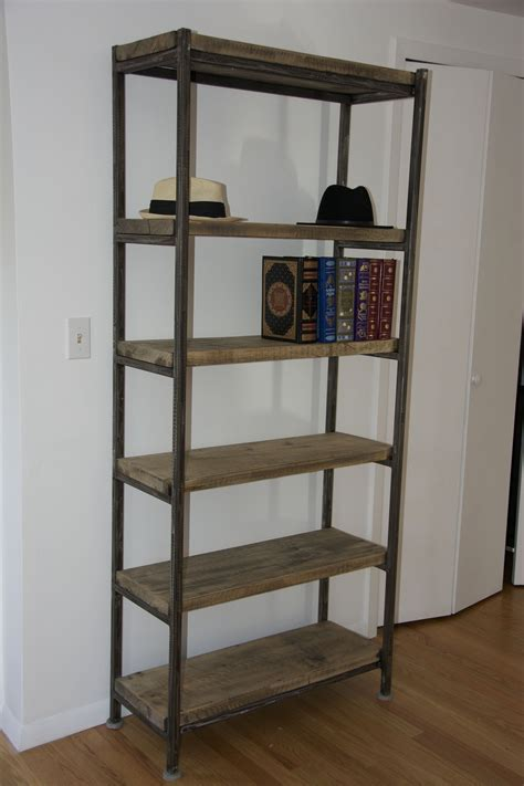 Steel Bookcases by Made Acton Metal Wood Bookcase By Gbc Designs