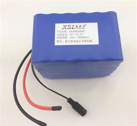 6s5p 24v 10ah lithium battery installed battery electric