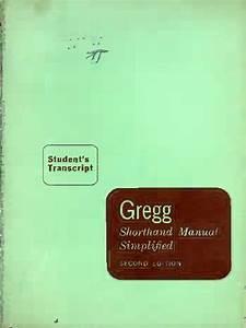 Gregg Shorthand Manual Simplified 2nd Ed Student U0026 39 S