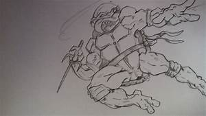 Drawing Teenage Mutant Ninja Turtles Raphael